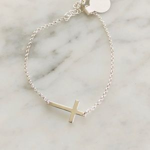 Jewelry - .925 sterling silver cross bracelet
